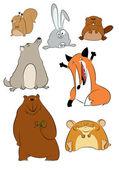 Wild cartoon animals