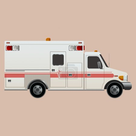 Illustration for Vector image of an white car Ambulance - Royalty Free Image