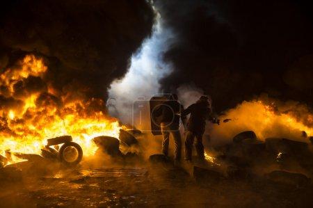 Photo pour Rue protester à kiev - image libre de droit