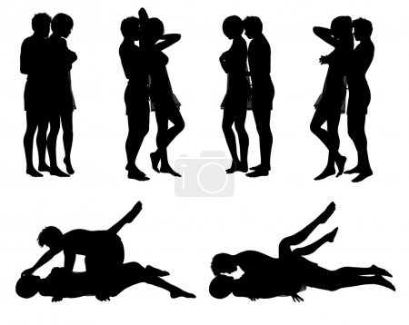 Photo pour Illustration : position d'amour - image libre de droit