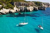 Cala Macarella beach in Menorca, Spain