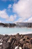 Modrá Laguna - slavný islandský spa a geotermální elektrárny