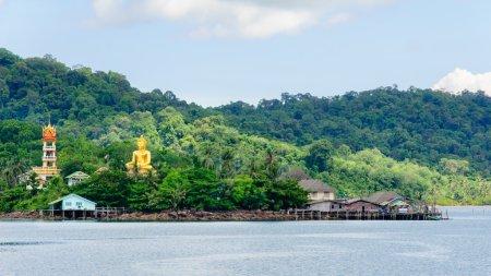 Koh Kood Island, Thailand - May 26, 2014: View of Baan Ao Salad port and fishing village on Koh Kood Island, Thailand