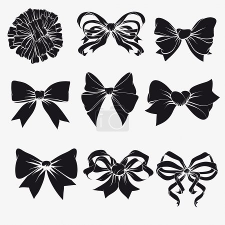 Illustration for Set of different bows - Royalty Free Image