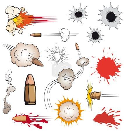 Illustration pour Set de balles de bande dessinée, illustration vectorielle - image libre de droit