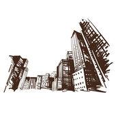 City hand drawn Vector illustration