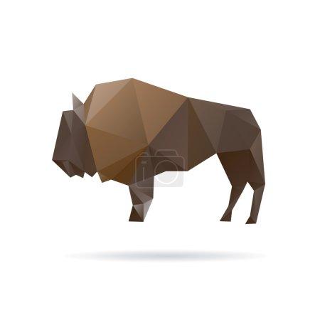 Illustration pour Buffalo abstrait isolé sur un fond blanc - image libre de droit
