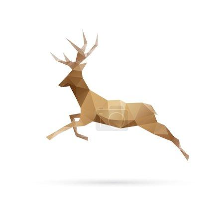 Illustration pour Cerf abstrait isolé sur fond blanc, illustration vectorielle - image libre de droit