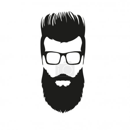 Fashion silhouette hipster style, vector illustration