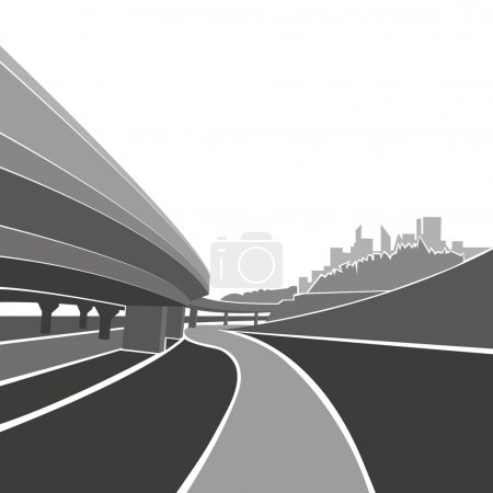 Road background,vector illustration