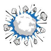 Boom comic book explosion snowball vector illustration