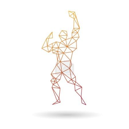 Illustration pour Muscle homme abstrait isolé sur un fond blanc - image libre de droit