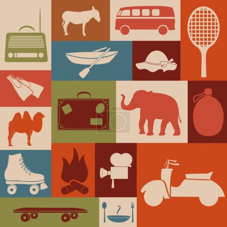 Recreation icons.