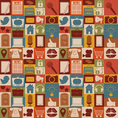 Seamless pattern of social media icons