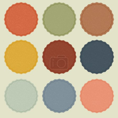 Ilustración de Etiquetas de colores - Imagen libre de derechos