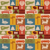 Seamless pattern of travel icons