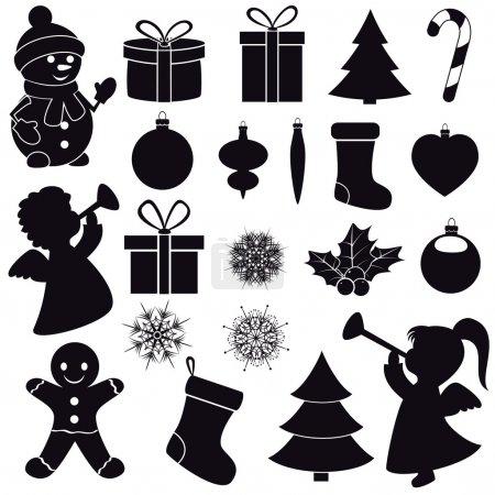 Illustration pour Icônes de Noël. - image libre de droit