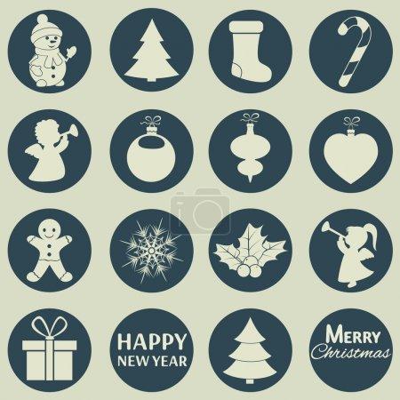 Illustration pour Vecteur série d'icônes de Noël - image libre de droit
