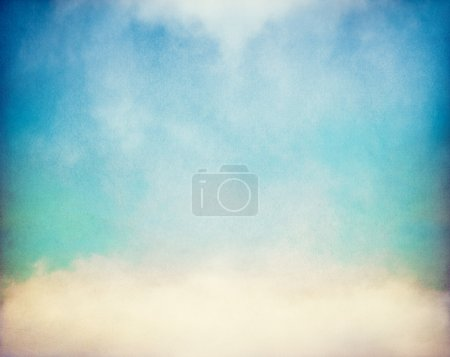 Photo for Fog and clouds on a vintage, textured paper background with a color gradient. - Royalty Free Image