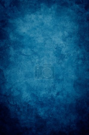 Photo for A textured, vintage paper background with a dark blue vignette. - Royalty Free Image