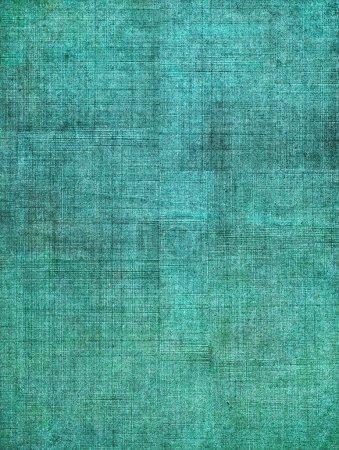 Photo pour Une couverture de livre en tissu vintage turquoise avec un motif sceen lourd et des textures de fond grunge . - image libre de droit