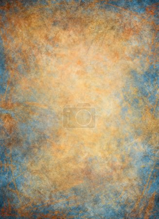 Photo for A paper background with golden and blue textures. - Royalty Free Image
