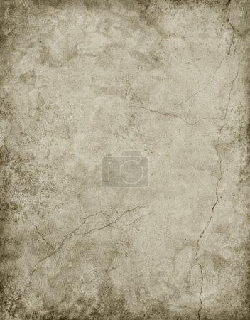Photo pour Vieux papier carton avec des fissures et des taches dans une coloration neutre .. - image libre de droit