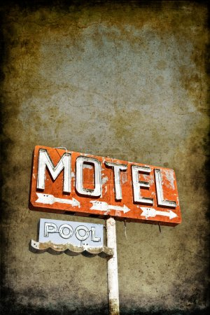 Grungy Motel Sign
