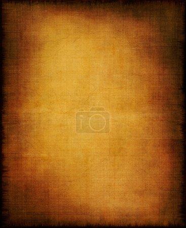 Photo pour Une ancienne section du tissu et du papier avec un effet doré de centre et de la vignette. - image libre de droit