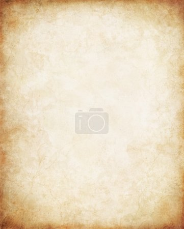 Photo for Old paper with a glowing center and vignette. - Royalty Free Image