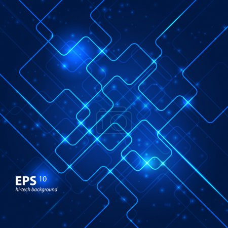 Photo for Abstract hi-tech blue background. Vector illustration - Royalty Free Image