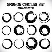 Set of vector grunge circles  Objects for your art