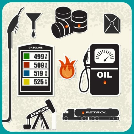 Vector Set of oil icons