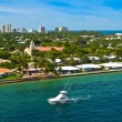 City and coastline of the city of Fort Lauderdale,...