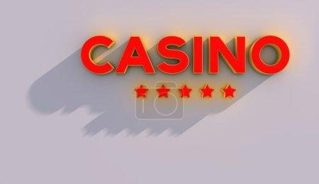 CASINO and stars 3d