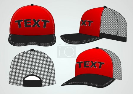 Illustration for Different views of the hat for your design - Royalty Free Image