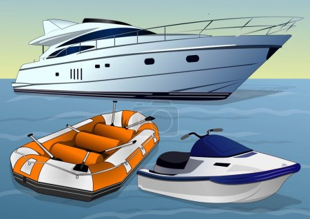 Illustration for Will take you anywhere on the water - Royalty Free Image