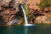 Vodopád v typické portugalské krajiny