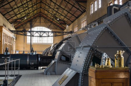 Machine room of historic steam pumping station