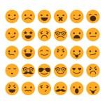 Set of different smileys vector
