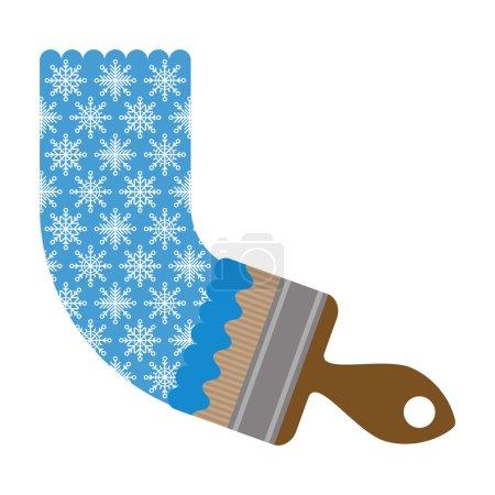 Illustration pour Brosse d'illustration dessine un motif de flocons de neige - image libre de droit