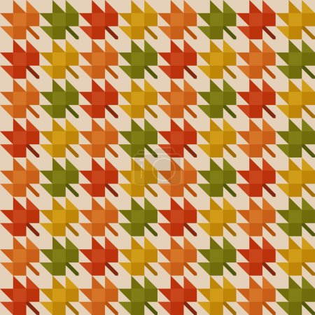 Abstract pattern with autumn leaves