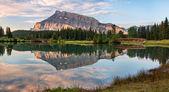 Rundle Mountain Reflection
