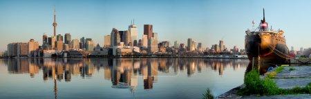 Photo pour Panorama de la ville de Toronto - image libre de droit
