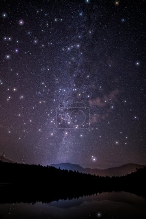 Huge Twinkling Stars with Milky Way