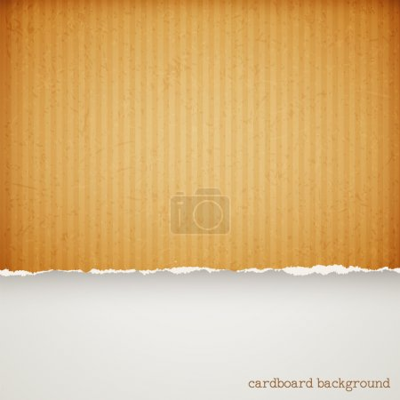 Illustration for Cardboard paper frame with torn edges - Royalty Free Image