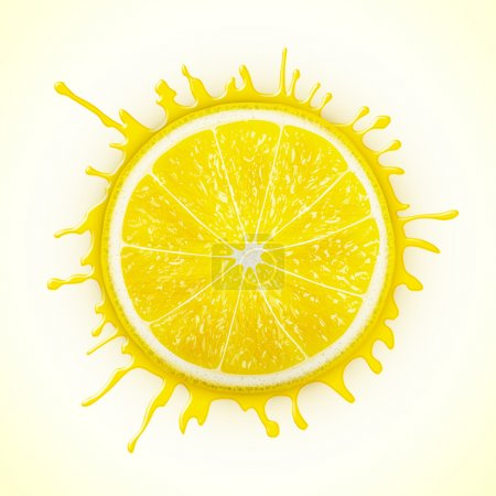 Illustration for Fresh lemon with splash eps10 vector illustration - Royalty Free Image