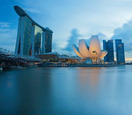 Photo pour Bâtiments d'architecture moderne à Singapour - image libre de droit