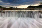 Waterfall at sunset in Borneo, Sabah, Malaysia