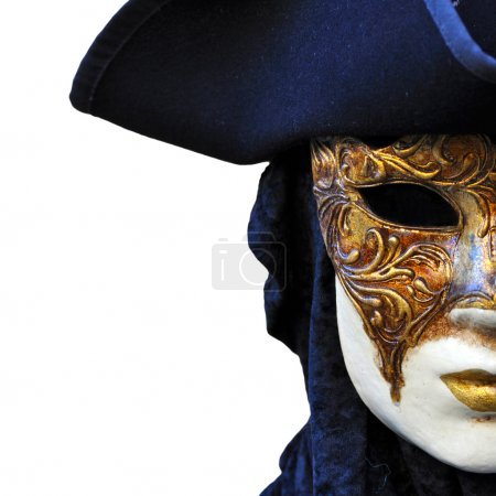 Photo pour Masque vénitien de carnaval à Venise - image libre de droit